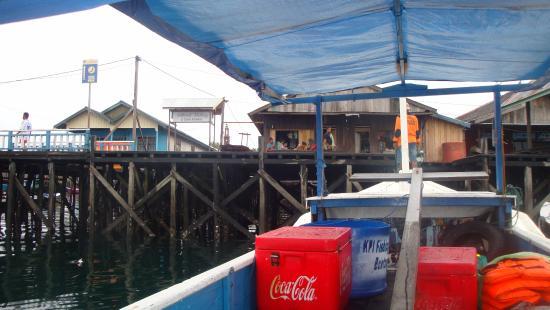 East Kalimantan, إندونيسيا: Pulau Miang dari sisi laut