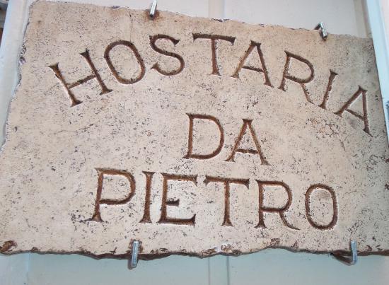 Hostaria Da Pietro: Insegna