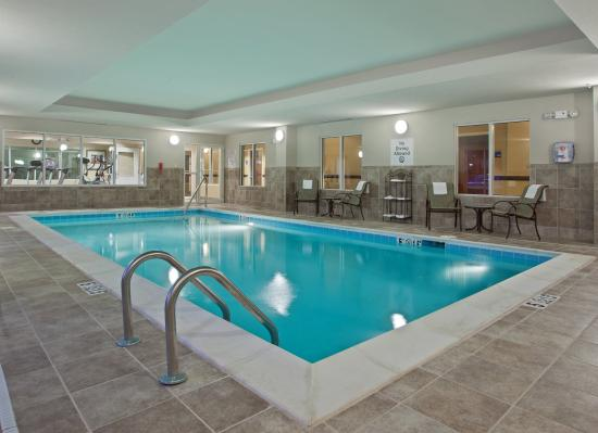 Indoor heated swimming pool at Holiday Inn Express Franklin Ohio