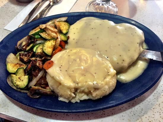 Grand Junction, CO: Chicken fried steak with homemade Mashed Potatoes