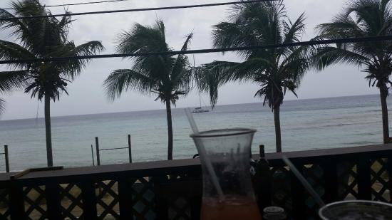 Eat at Cane Bay: View from bar