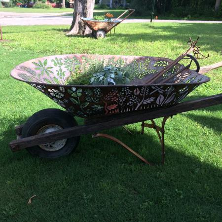 The Front Porch: We loved this wheelbarrow and it's for sale!