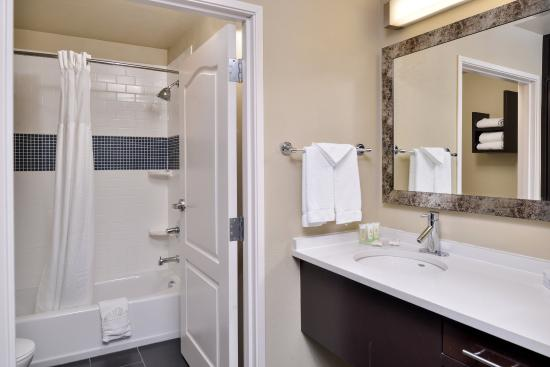 Staybridge Suites Stone Oak: The modern bathroom in our suites