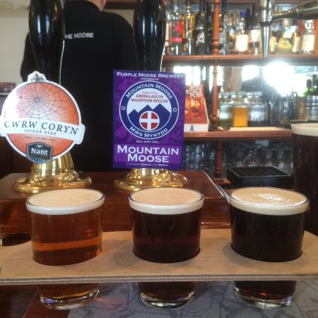 The Albion Ale House: Three thirds tasters - all grand!