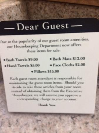 Best Western Plus Landmark Inn: Travel warning