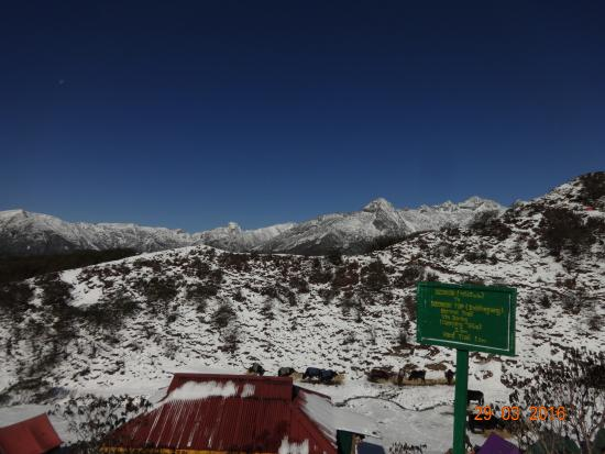 Dzongri La: morning after snowfall