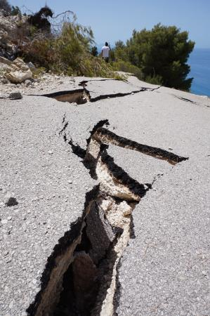 Strand von Egremni: The road is closed to Egremni Beach! So don't waste your time..