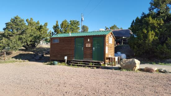 Prospectors RV Resort: Bathroom/shower by cabins