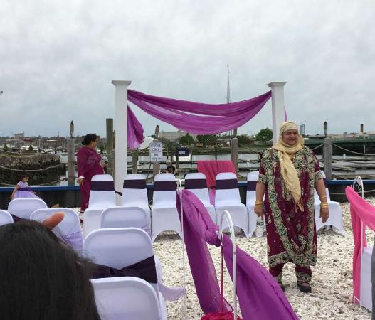 Seaport Inn and Marina: Outdoor ceremony space