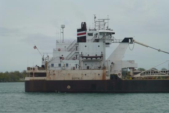 Marine City, MI: Freighter passing by.