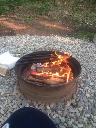 Shelburne, Nueva Hampshire: Firepits at every site