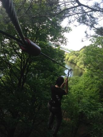 Bolton, UK: Zip wire over the water!