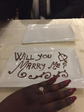 Chopsticks: I actually got engaged in this restaurant, the staff where lovely and made my engagement special