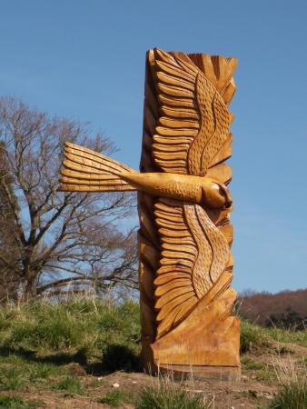 Moors National Park Centre, Danby: Garden carving.