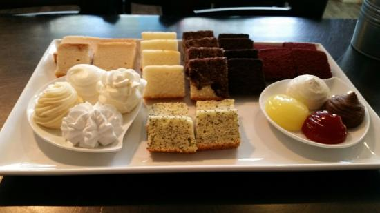Whitewater, WI: Sweet Spot Wedding Cake tasting platter