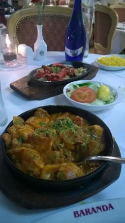 Baranda Restaurant: Salmon Tikka and Salmon Kahdi (I think I got that right!) Highly recommended ...
