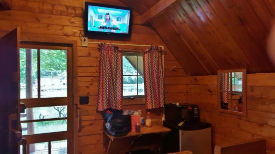 Sallisaw, OK: Cabin #1 microwave, fridge, cable tv