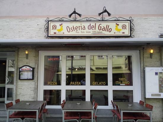 Bad Neustadt an der Saale, Alemania: Osteria del Gallo Terrazze 1