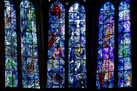 The Marc Chagall Stained Glass Windows Notre Dame Reims Foto Van