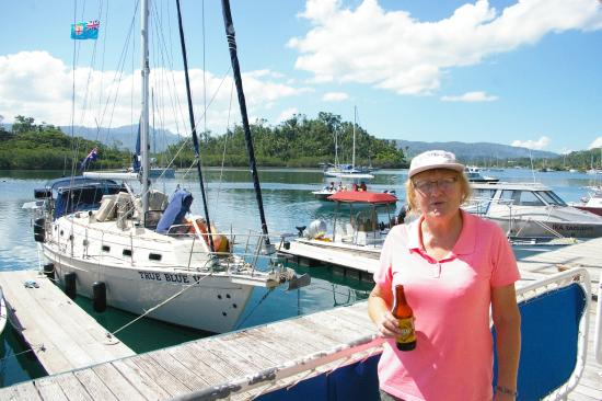 Vanua Levu, Fiji: The marina outside the Copra shed restaurant