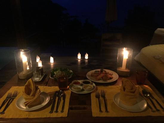 Six Senses Yao Noi In Room Dining Set Up For Romantic Night
