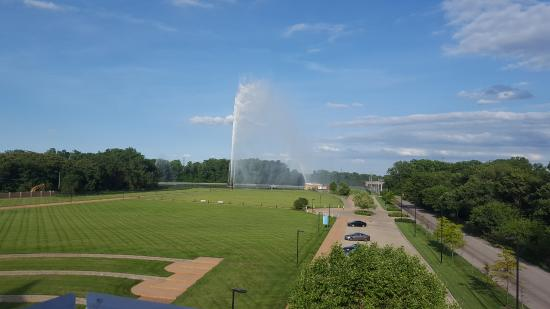 East Saint Louis, IL: View from the Deck of Park - Beautiful park!