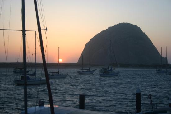 Gray's Inn and Gallery: Taken from deck, Sun set by Morro Rock