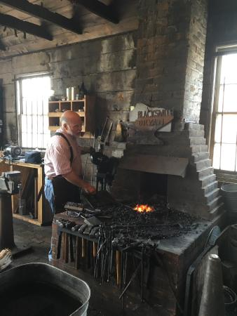 Blacksmith at the forge - Picture of The Old Blacksmith Shop