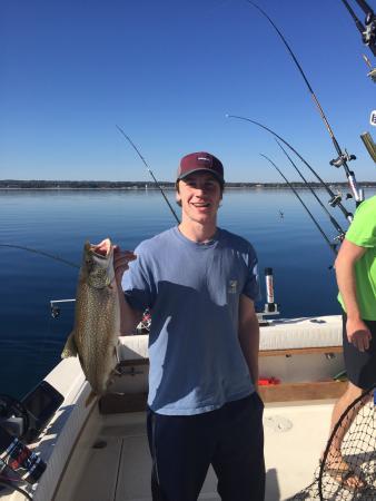 Mega bite fishing charters traverse city mi omd men for Traverse city fishing charters