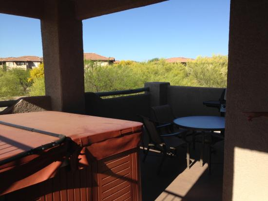 Jucuzzi on patio of 3 bedroom suite picture of worldmark rancho vistoso oro valley tripadvisor for 2 bedroom suite hotels in tucson az