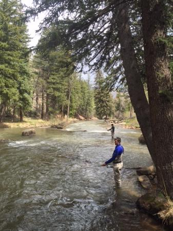 Shawnee, CO: Fishing ranch's private river just away from cabins