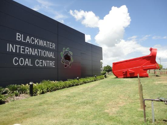 Visit the Blackwater International Coal Centre, look out for the BIG RED Dragline Bucket on the