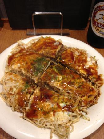 Hiroshima Okonomiyaki Sansho: デカイ