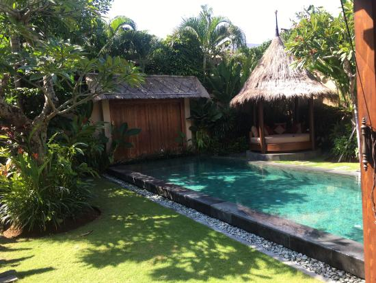 Space at Bali: Pool and daybed