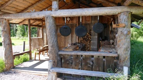 Sarna, Σουηδία: Outdoorküche