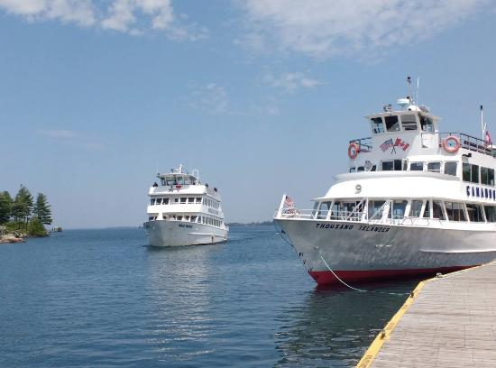 2 of the boats operated by Gananoque Boat Line