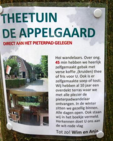 Afferden, The Netherlands: Reclame langs het Pieterpad