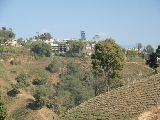 イラム, ネパール, 青い建物が展望タワー