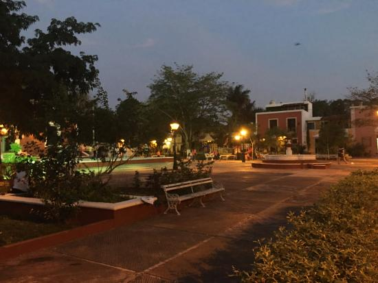 Hostel Candelaria : Park just outside the hostel doors