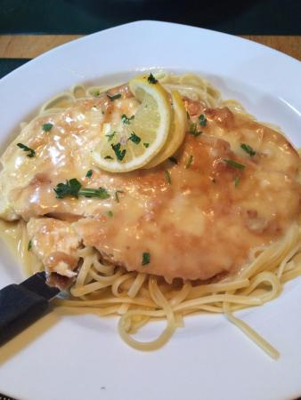 Ledgewood, NJ: Chicken Piccata with linguini