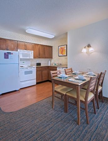 Residence Inn Columbia : Two Bedroom Kitchen - the kitchen includes, full refigerator, dishwasher, microwave, and oven