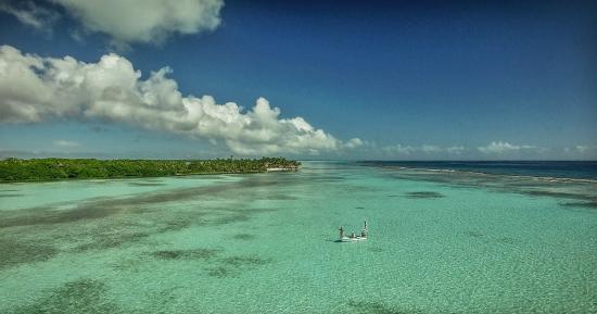 "Turneffe Island, Belize: ""Home Flat"" aerial"