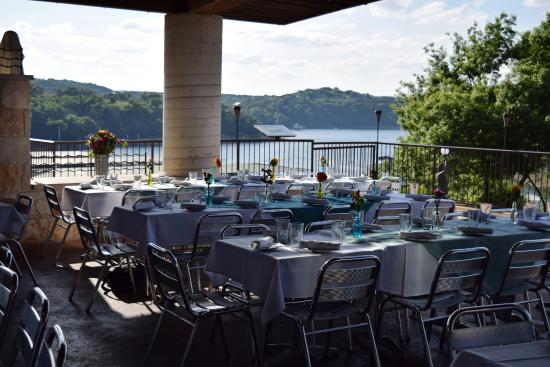 The Grille At Rough Hollow: Patio Setup And View