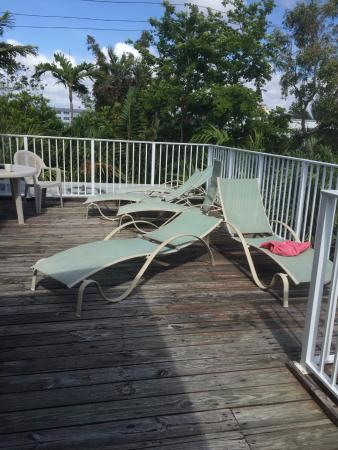 The Worthington Guest House: Upstairs sundeck.