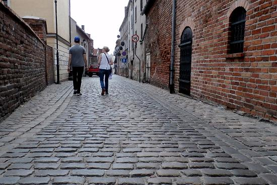 Grudziadz- Old Town cobble stone streets