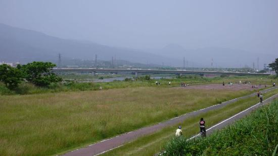 Sakawa River Left Bank Cycling Field