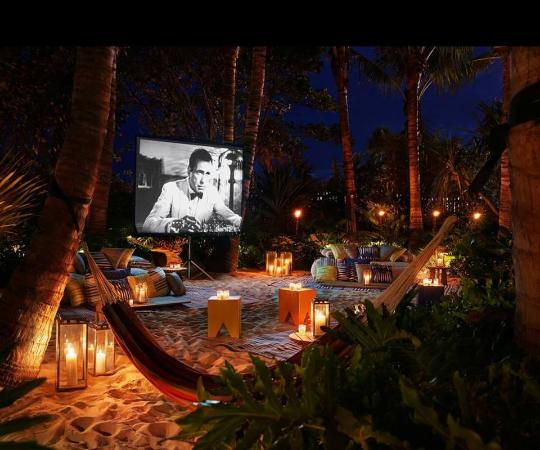 The Miami Beach EDITION Movies On Sand At Night