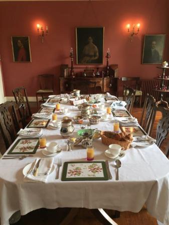 Ballyduff House: Breakfast Table