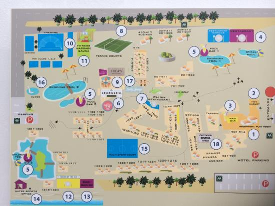 Map of the resort, Marmari Beach by Atlantica - Bild von ...