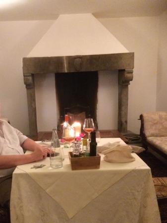 Intimate dinner in the villa just for us